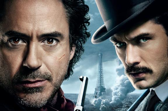 Robert Downey Jr. e Jude Law in Sherlock Holmes - Gioco di ombre