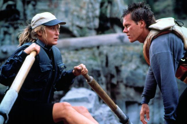 Meryl Streep e Kevin Bacon sulle acque del Fiume della Paura