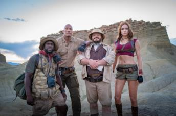 Il quartetto di protagonisti di Jumanji: The Next Level