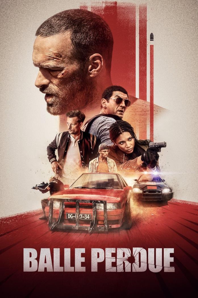 Il cast di Proiettile vagante, nel poster del film