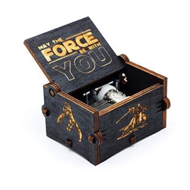Carillon legno nero Star Wars