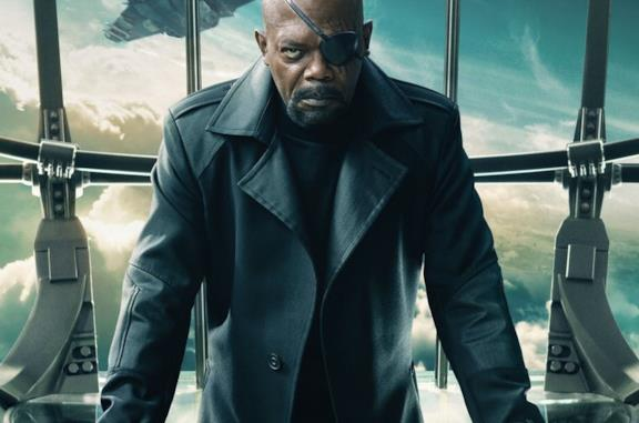 Nick Fury all'interno dell'Helicarrier