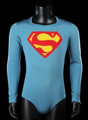 Il costume creato in occasione del primo film di Superman