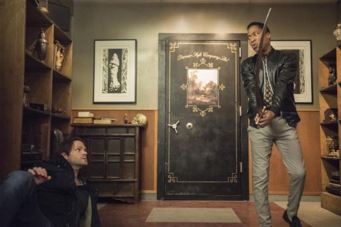 Supernatural: Sam in un scena tratta dall'episodio 300