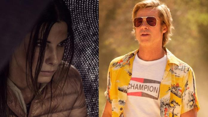 Collage tra Sandra Bullock e Brad Pitt
