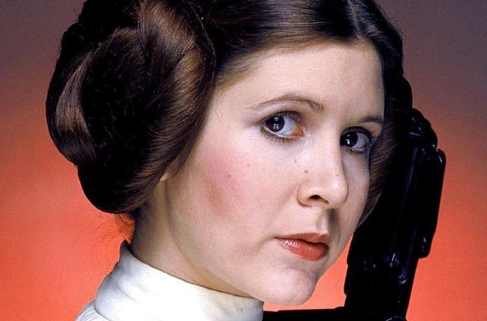Carrie Fisher è Leia Organa nella saga di Star Wars