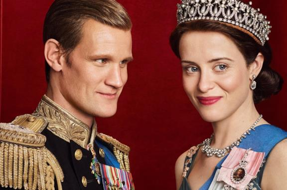 Claire Foy e Matt Smith in the Crown
