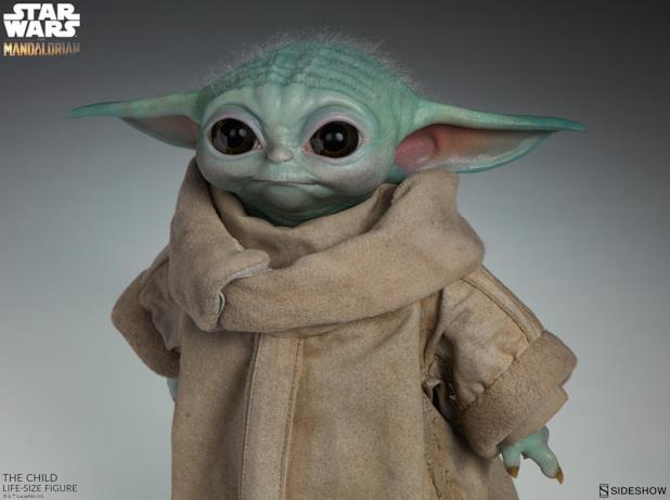 Il mezzo busto di Baby Yoda