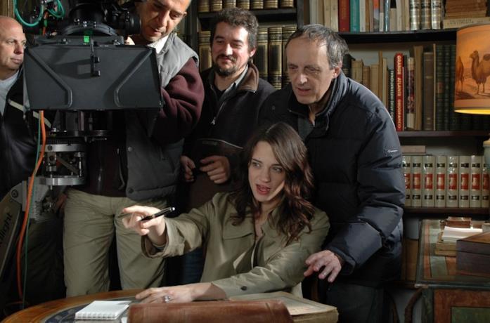 Asia e Dario Argento sul set del film La terza madre