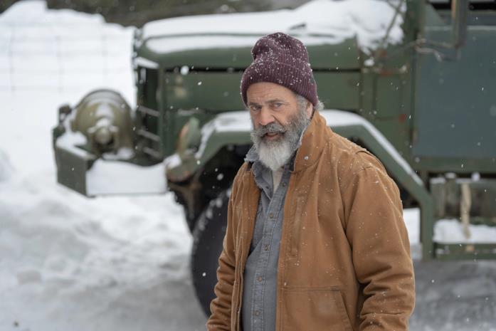 Mel Gibson sotto la neve