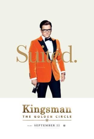 Eggsy (Taron Egerton) nel character poster di Kingsman 2