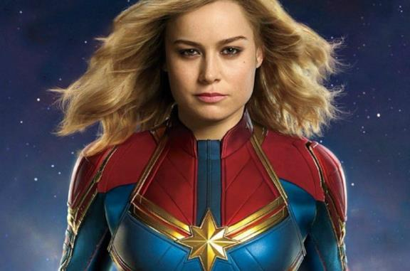 Captain Marvel nel poster del film