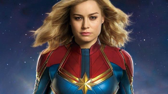Captain Marvel nel poster del film