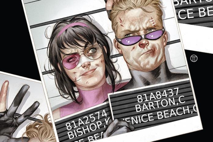 Dettaglio della cover di Hawkeye #13