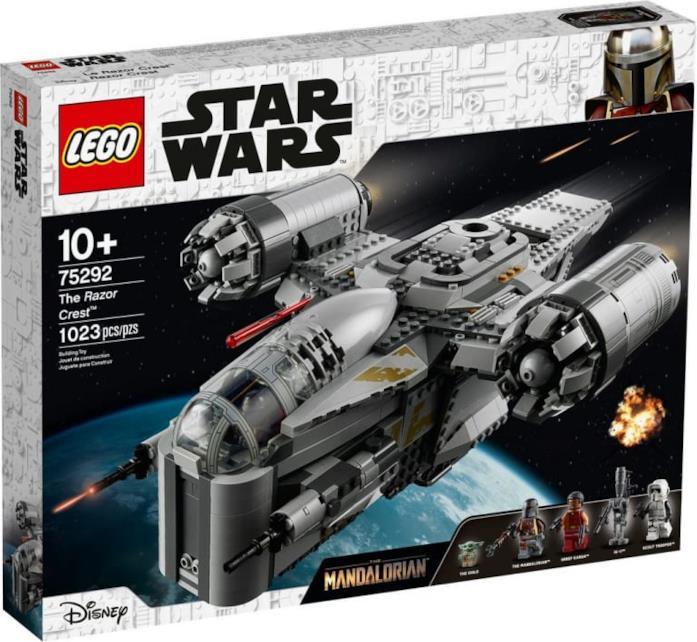 Il box del set LEGO che riproduce l'astronave di The Mandalorian