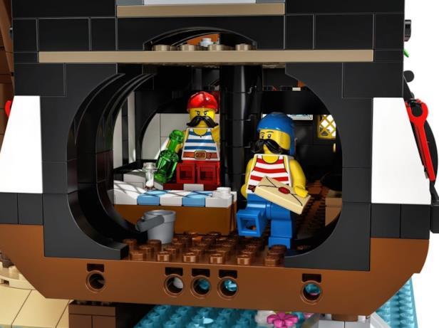 I bucanieri Babordo e Tribordo del set LEGO