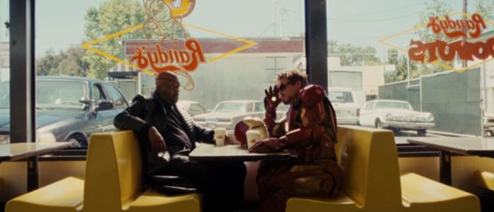 Fury e Iron Man al bar