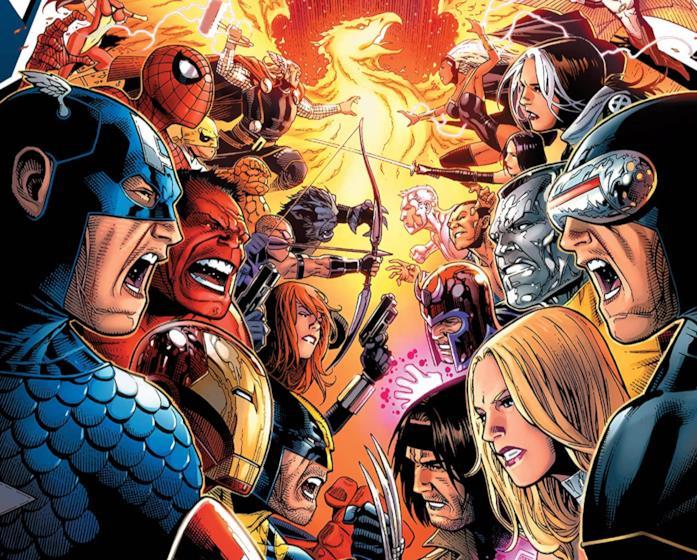 Dettaglio della cover di Avengers vs. X-Men: Collected Edition