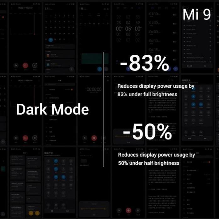 Informazioni sulla Dark Mode di Xiaomi Mi 9