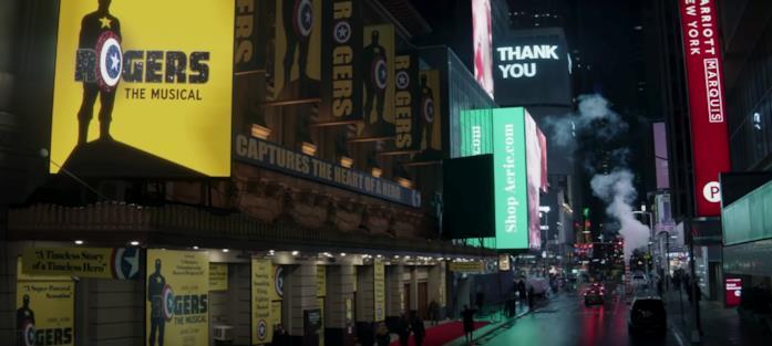 Le luci e le pubblicità luminose di New York