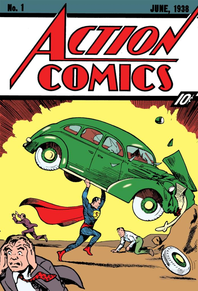 Superman nel primo numero di Action Comics