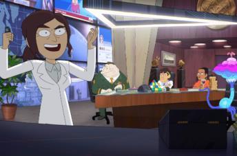I protagonisti del cartoon Netflix Inside Job