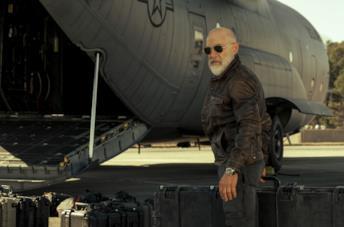 J.K. Simmons in una scena del film La guerra di domani