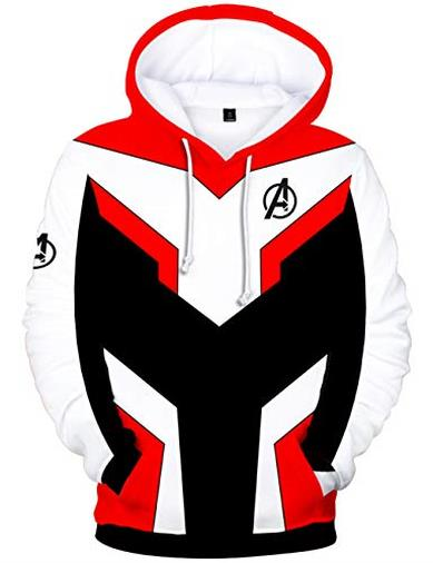 HUASON Avengers Superhero Realm Battle Jacket Felpa con Cappuccio Giacca Cosplay Hoodie(XS)