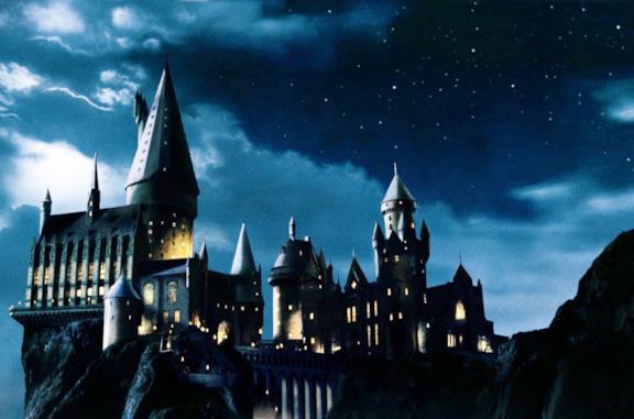 Il blocco note con il castello di Hogwarts