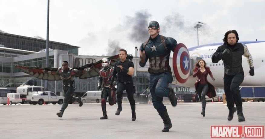 Team Cap in Capitan America: Civil War
