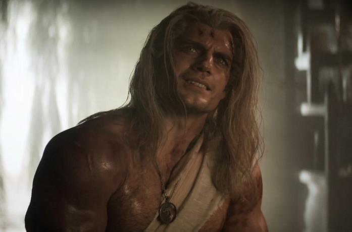 Henry Cavill in una scena di The Witcher su Netflix