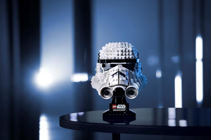 Il casco LEGO di Stormtrooper
