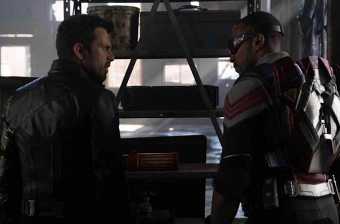 Un'immagine di Sam e Bucky
