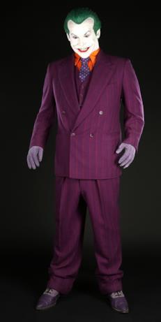 Il costume di Joker creato per il primo Batman di Tim Burton
