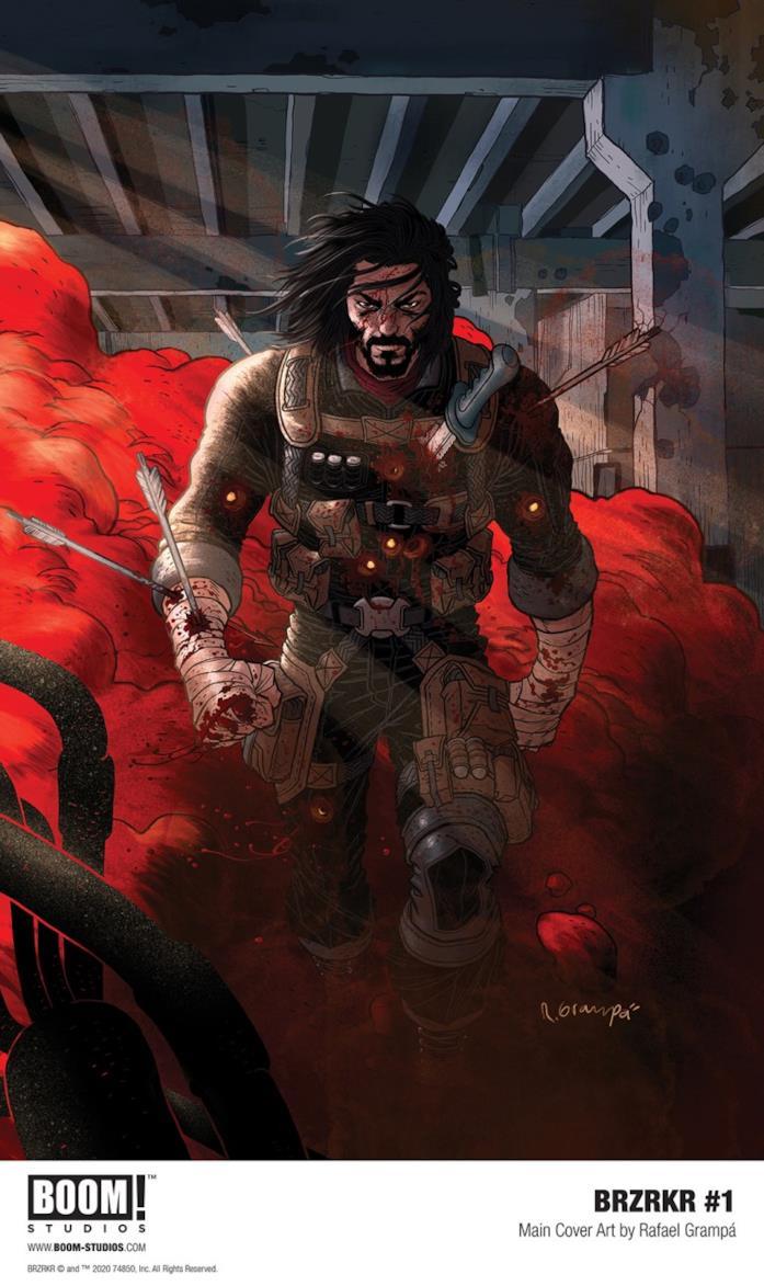 BRZRKR: copertina fumetto di  Keanu Reeves