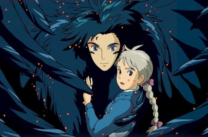 Howl e Sophie in una scena de Il castello errante di Howl