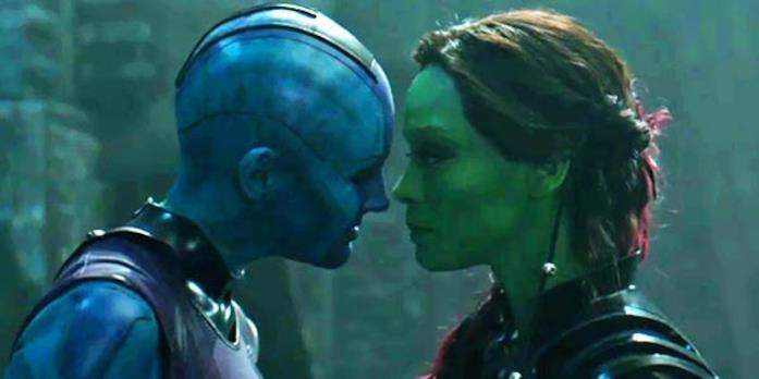 Nebula e Gamora faccia a faccia