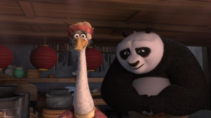 Kung Fu Panda 2 scena