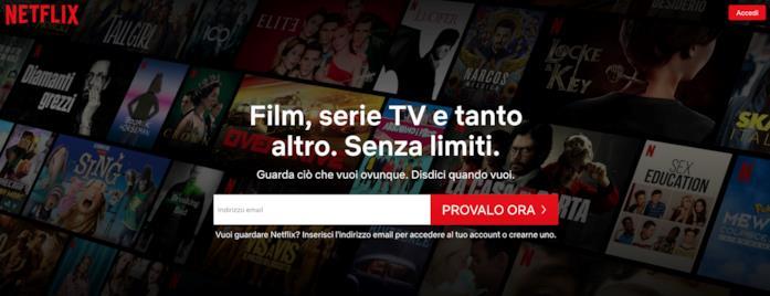 Come connettersi Netflix via web