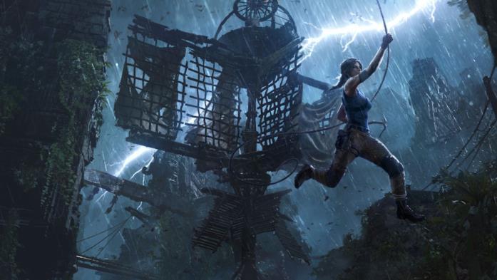 Lara Croft in azione in Shadow of the Tomb Raider
