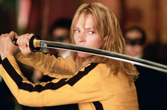 Uma Thurman in una scena di Kill Bill: Volume 1
