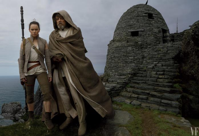 Rey e Luke in Star Wars: Gli Ultimi Jedi