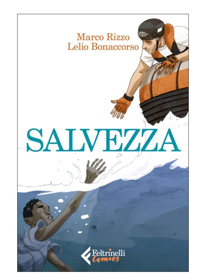 La cover del reportage a fumetti Salvezza