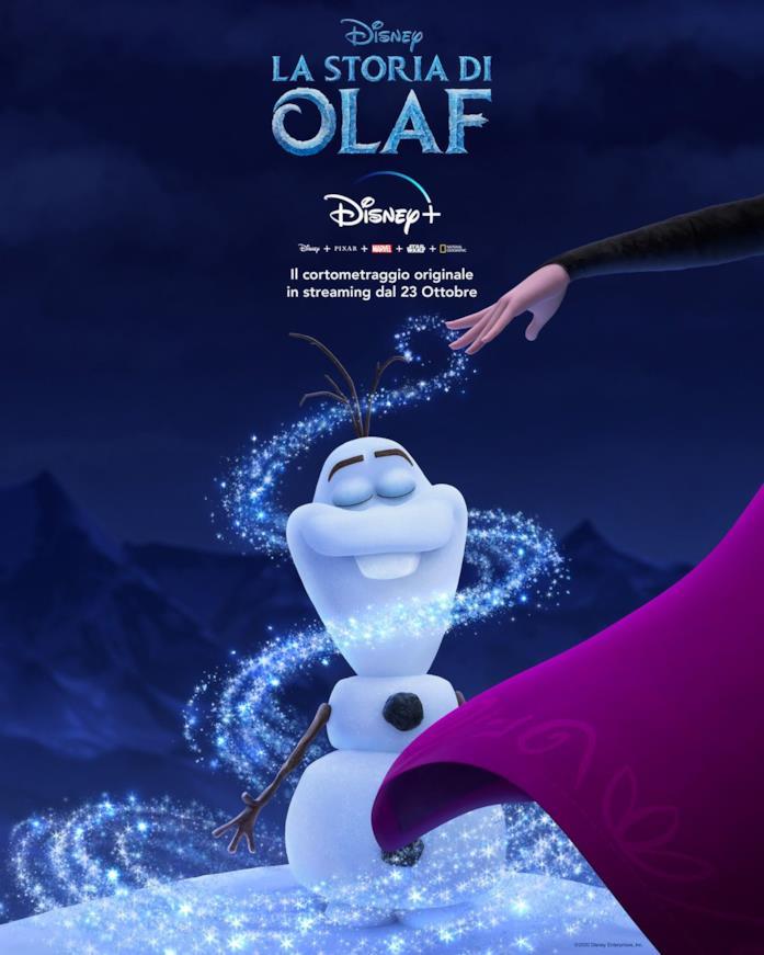 Il poster ufficiale de La storia di Olaf