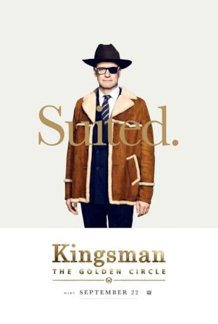 Harry Hart (Colin Firth) nel character poster di Kingsman 2