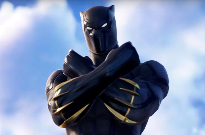 Il costume di Black Panther in Fortnite