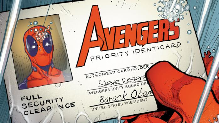 Deadpool tra gli Avengers nei fumetti Marvel