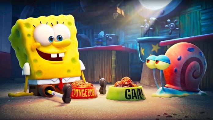 """SpongeBob e Gary stanno """"cenando"""""""
