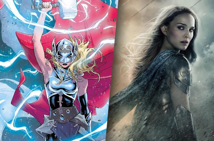 Lady Thor (sinistra) e Jane Foster (Natalie Portman, destra)