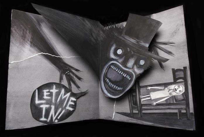 Una pagina del terrificante libro del Babadook